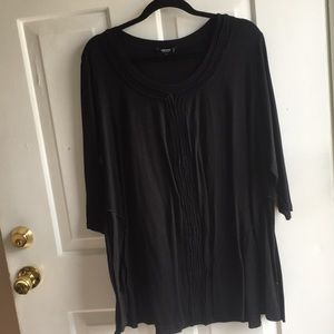 Premise Black Tunic with Middle Seam Detail PLUS